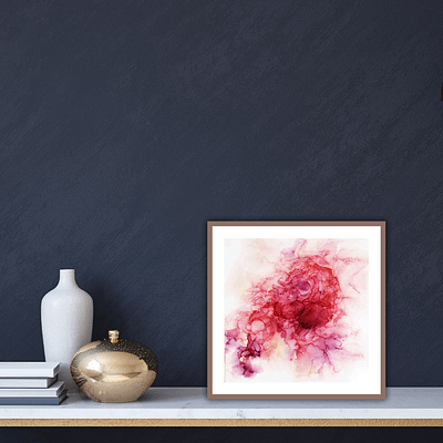 Pink abstraction – abstract fine art print on paper