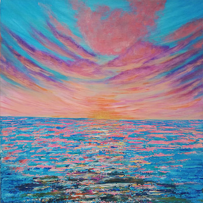 Unexpected lies ahead – abstract sunset painting
