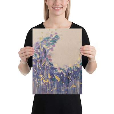 Dreamy purple boho giclee print on canvas