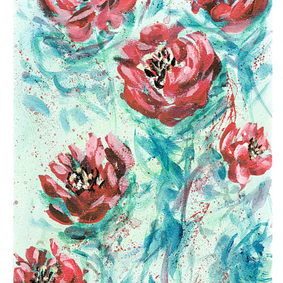 Soft roses – fine art print on canvas
