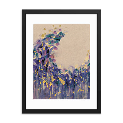 Dreamy purple boho giclee framed matte poster