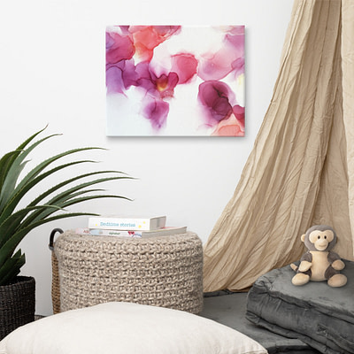 Pink and purple – abstract canvas print