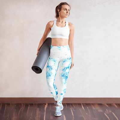 Blue abstract design Yoga Leggings