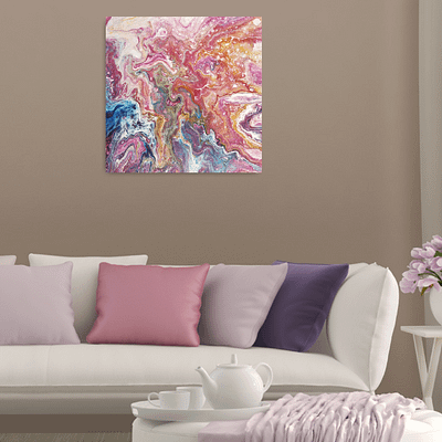 Reflection of the storm – fluid abstract artwork
