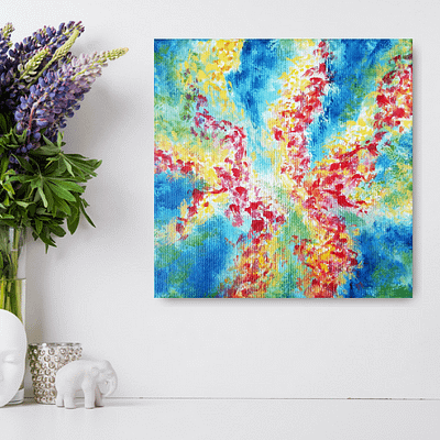 Spring is in the air – abstract floral oil painting