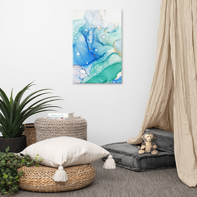 Blue lagoon – giclee print on canvas