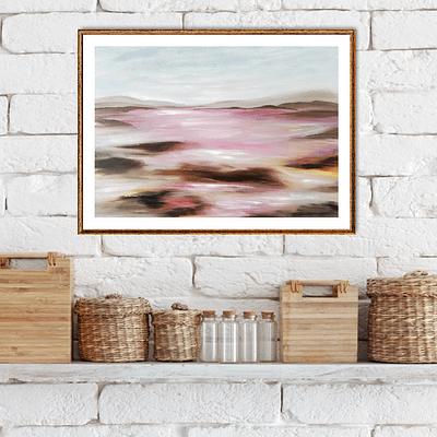 Abstract romantic landscape – painting on paper