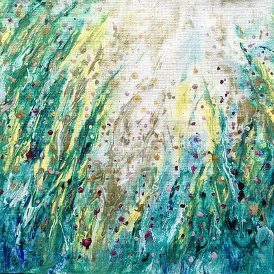 Spring meadow – abstract floral painting