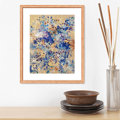 Frosty garden – abstract floral painting