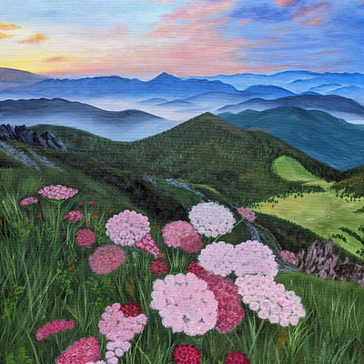 Slovak mountains – landscape mountain artwork, 60x80cm