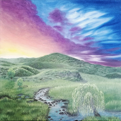 Fascinating sky – original landscape painting