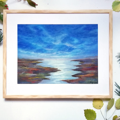 Riversides – original river oil painting