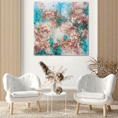 The scent of spring – abstract artwork, 100x100cm