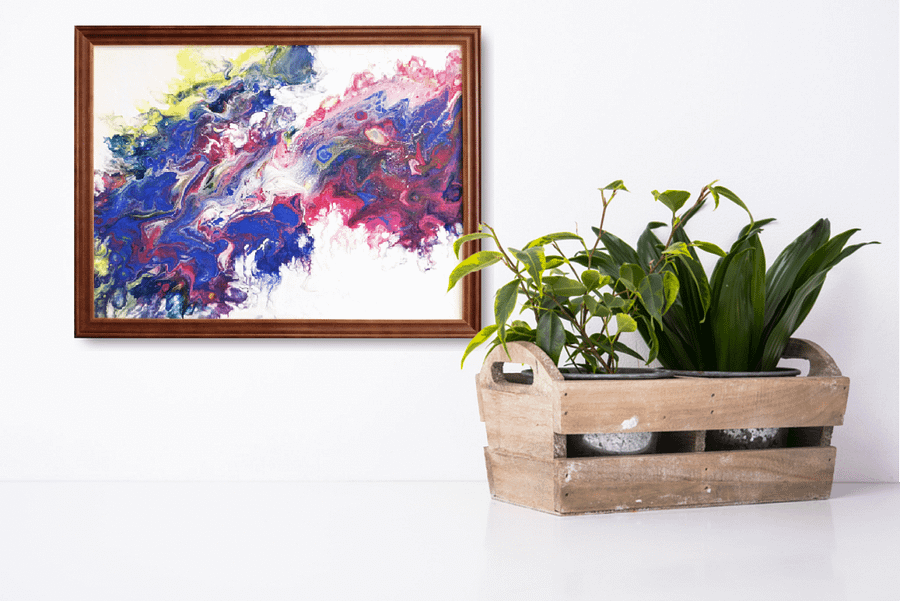 abstract flow colourful artwork