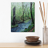 Summer forest stream - woods oil painting