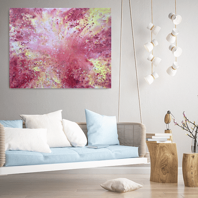Motherly love – abstract painting on canvas, 100x80cm