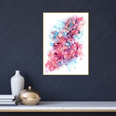 Happy dots – abstract print on paper
