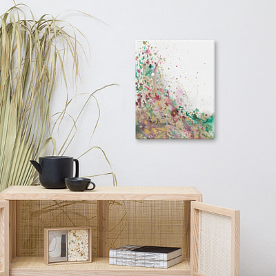 Abstract summer-inspired giclee print on canvas