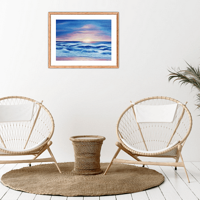 Quiet dreaming – sunset oil painting