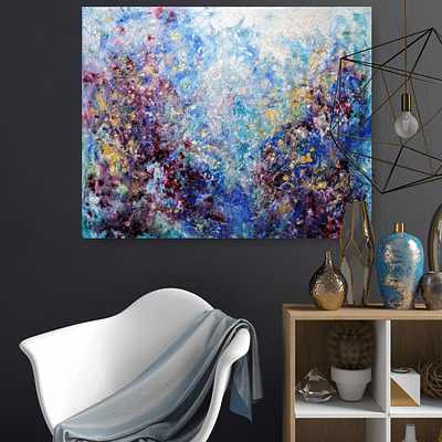 From the depths of the soul – abstract painting, 100x80cm