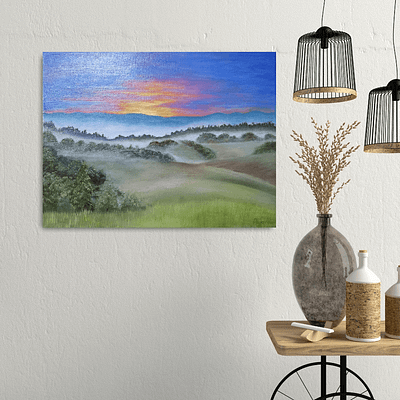 Misty valley – original landscape painting
