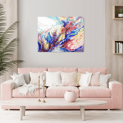 Alchemy – abstract painting on canvas, 80×60 cm