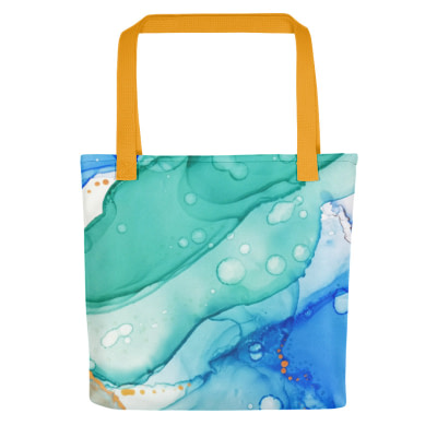 Blue and gold Tote everyday bag
