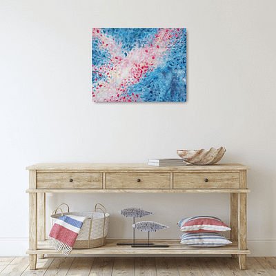 Petals in the wind – abstract painting