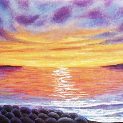 Passion deep within – seascape painting
