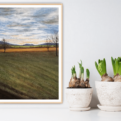 February day – plein-air landscape painting