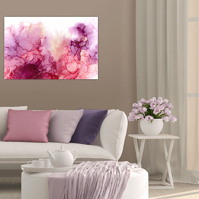 Passion and trust – abstract print on canvas