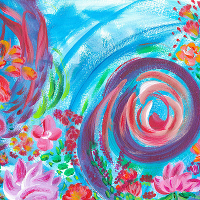 Spontaneous and sweet – abstract fine art print on canvas