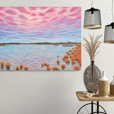 Look through your heart – realistic landscape oil painting