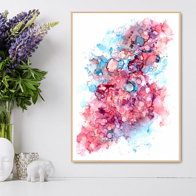 Happy dots – abstract downloadable art print