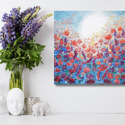 Shine your light through – floral oil painting