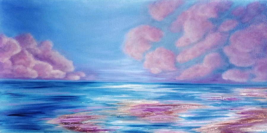 You are unique - seascape painting on canvas for sale