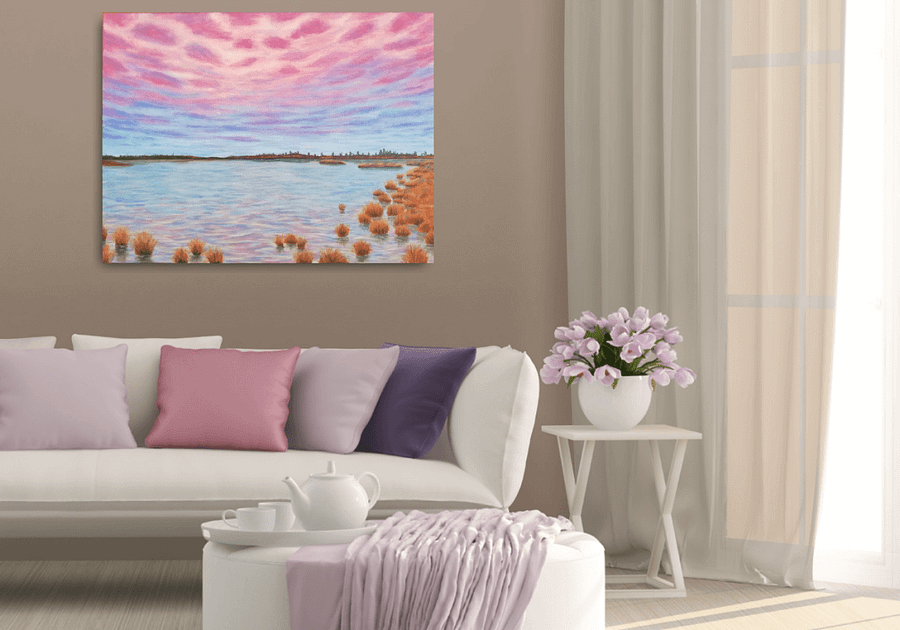 beautiful landscape painting living room