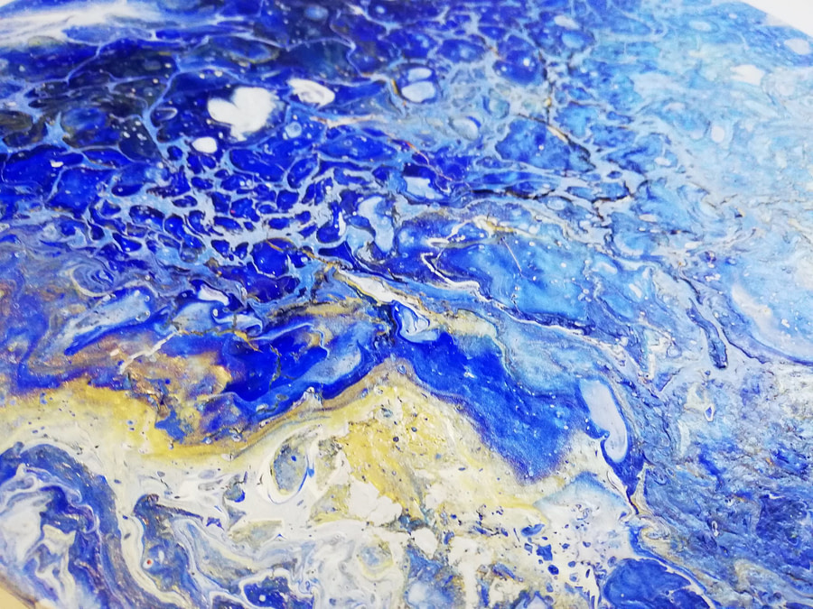 abstract pouring painting