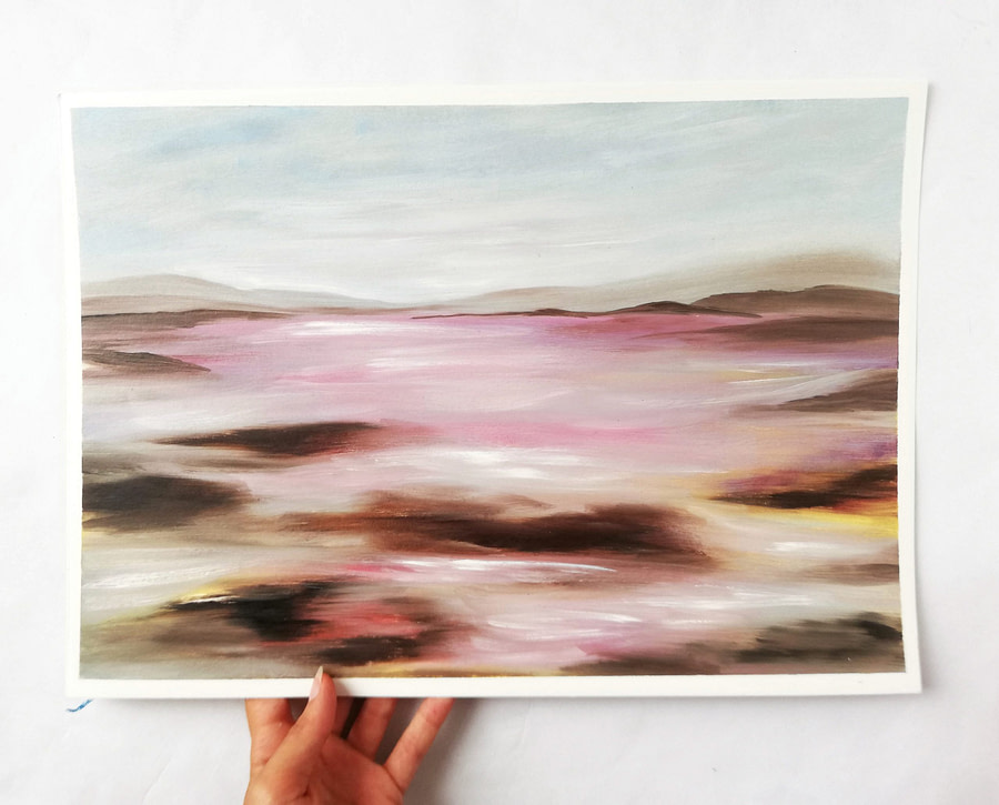 abstract oil painting landscape