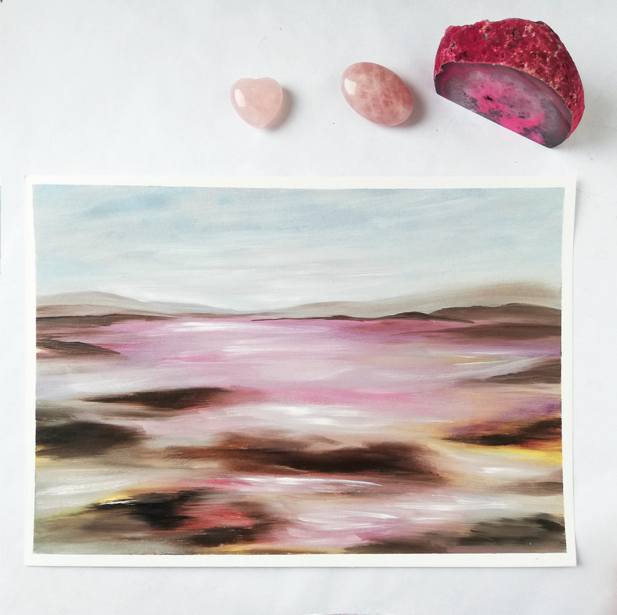 abstract romantic oil painting landscape