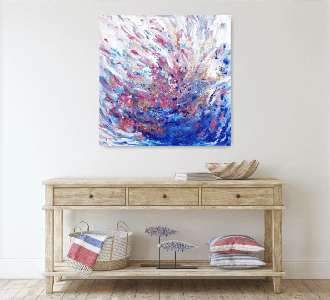 blue fantasy abstract painting