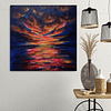 Dramatic and passionate night sky - sunset sea painting