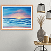 original sunset sea painting