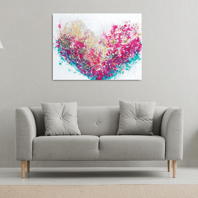 Heart full of love – abstract colourful painting