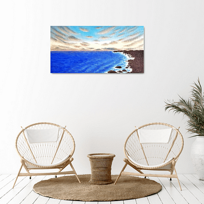 Melody in the waves – seascape oil painting