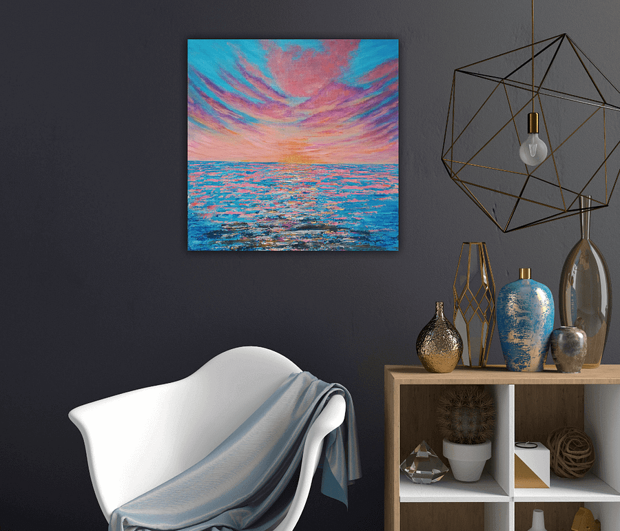Unexpected lies ahead - abstract sunset painting